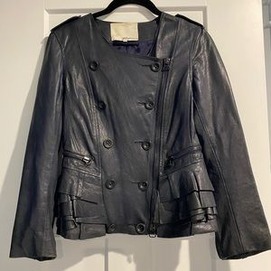 Phillip Lim Navy Leather Jacket 0